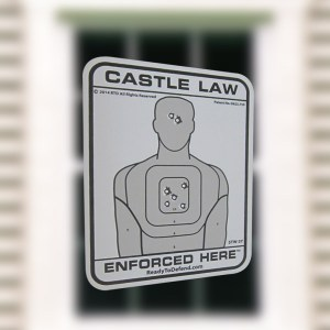 STW-3Y - 3-Pack of Single Decals - Castle Law Enforced Here-0
