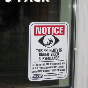 RTD-R1Y - 3 x Single Decals - Notice Video Surveillance-0