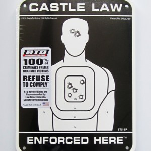 STS-3P Super-Tough Plastic Sign Panel - Castle Law Enforced Here-0