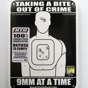 STS-6P Super-Tough Plastic Sign Panel - Taking a Bite Out of Crime 9MM at a Time-0