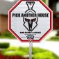 RTD-STW Octagonal Spartan Security Defense Pick Another House 3M Yard Sign-0