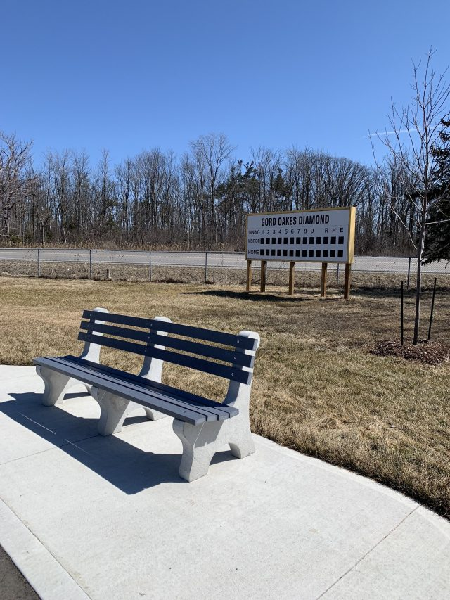 Baseball sign rotated - Exploring Glanbrook ~ One Neighbourhood at a time ~ Mount Hope