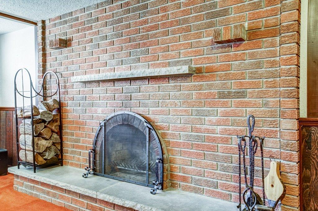 86 Eastbury Stoney Creek rec room fireplace - Recently SOLD in Stoney Creek