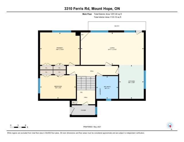 900 3310 Ferris Mount Hope floor plan upper - Recently SOLD in Mount Hope