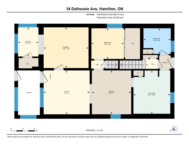 900 main floor plan 34 Dalhouse Hamilton 3 - Recently SOLD in Hamilton's Crown Point North Neighbourhood