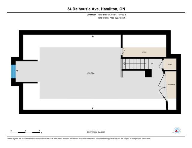 901 upper floor plan 34 Dalhouse Hamilton 3 - Recently SOLD in Hamilton's Crown Point North Neighbourhood