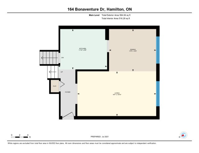 900 floor plan main 164 Bonaventure Hamilton - Recently SOLD ~ West Hamilton Mountain