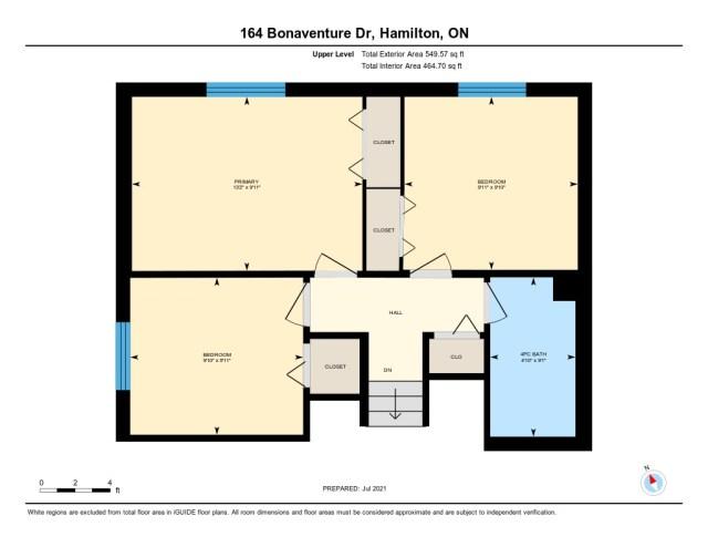 901 floor plan upper 164 Bonaventure Hamilton - Recently SOLD ~ West Hamilton Mountain