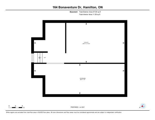 903 floor plan basement 164 Bonaventure Hamilton - Recently SOLD ~ West Hamilton Mountain