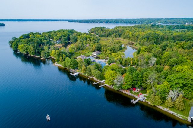 011 26 fire rte 103 bobcaygeon ON aerial4 - WATERFRONT ~ 4 SEASON COTTAGE FOR SALE ON PIGEON LAKE