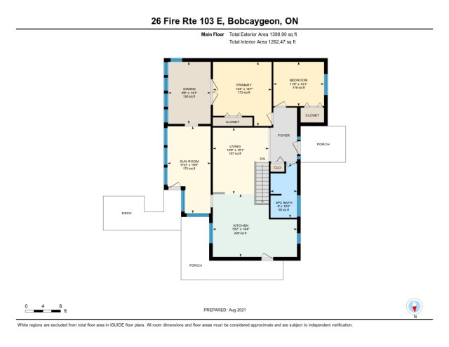 900 26 fire rte 103 bobcaygeon ON floor plan main - WATERFRONT ~ 4 SEASON COTTAGE FOR SALE ON PIGEON LAKE