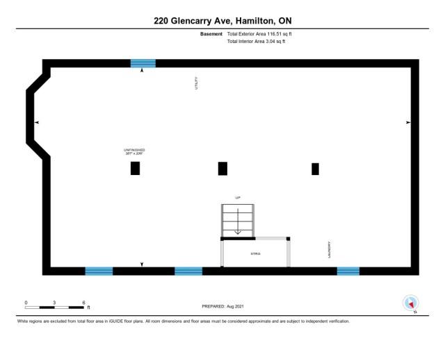 902 220 Glencarry Hamilton floor plan basement - Recently SOLD ~ East Hamilton