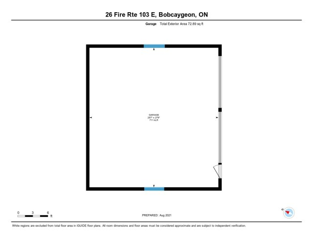 902 26 fire rte 103 bobcaygeon ON floor plan garage - WATERFRONT ~ 4 SEASON COTTAGE FOR SALE ON PIGEON LAKE