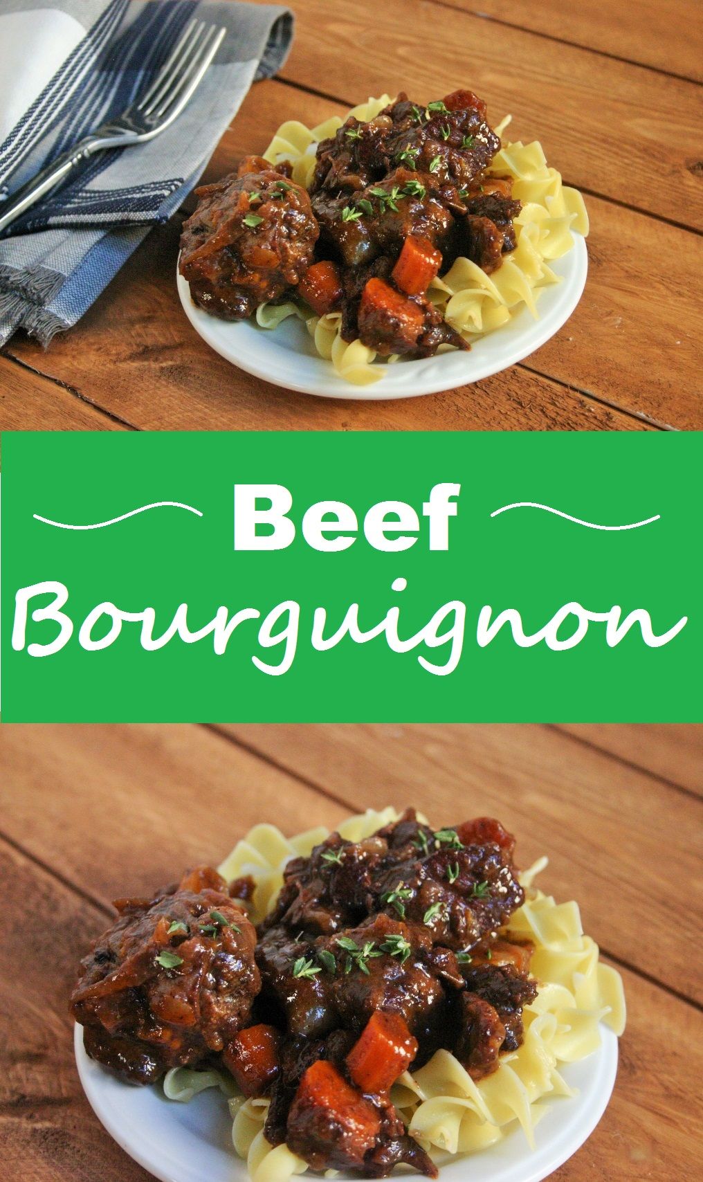 Beef bourguignon collage