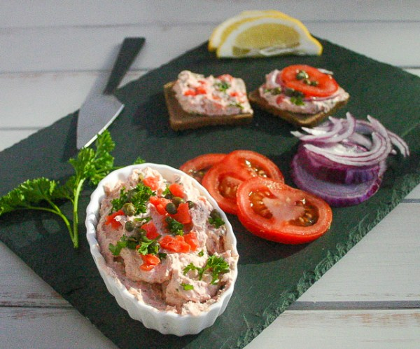 Smoked salmon and caper spread