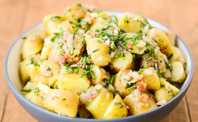 Baby Potato Salad with Bacon Vinaigrette