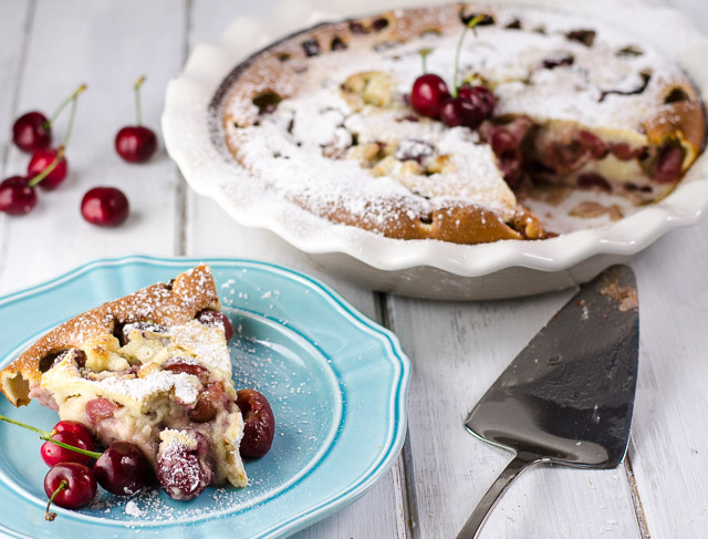 Cherry Clafoutis is a sweet, creamy dish you can serve for breakfast or dessert. Easily adapt it for any seasonal fruit!