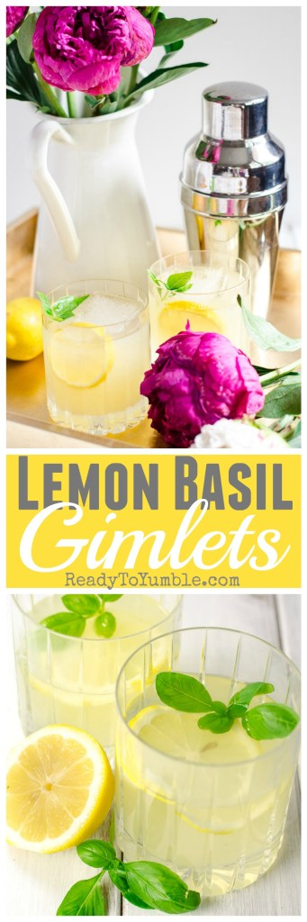 Lemon basil gimlets: the only summer cocktail you'll ever need.