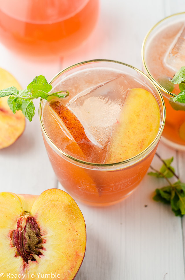 Peach Bourbon Cocktail