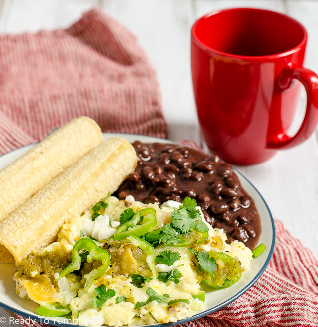 Green Chile Migas: a cheesy, crispy, just-a-little-spicy skillet of breakfast heaven!