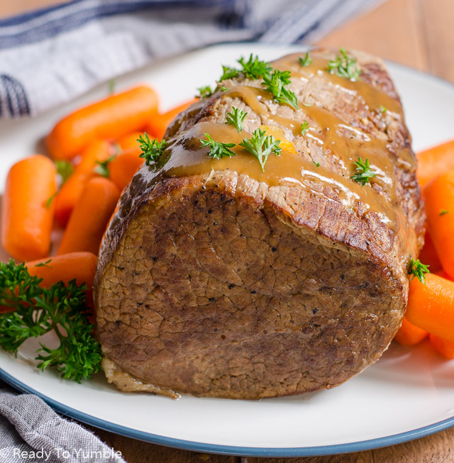 Cooler weather - and Oktoberfest! - is the perfect time to enjoy super tender and flavorful Sauerbraten, a German pot roast.