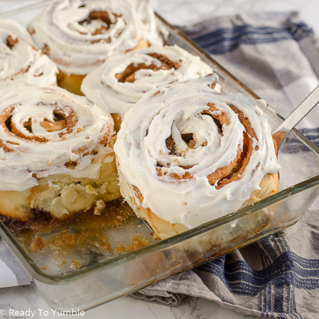 Monster Cinnamon Rolls are exactly what they sound like - huge helpings of delicious, gooey breakfast rolls, perfect for a weekend brunch or special holiday breakfast.