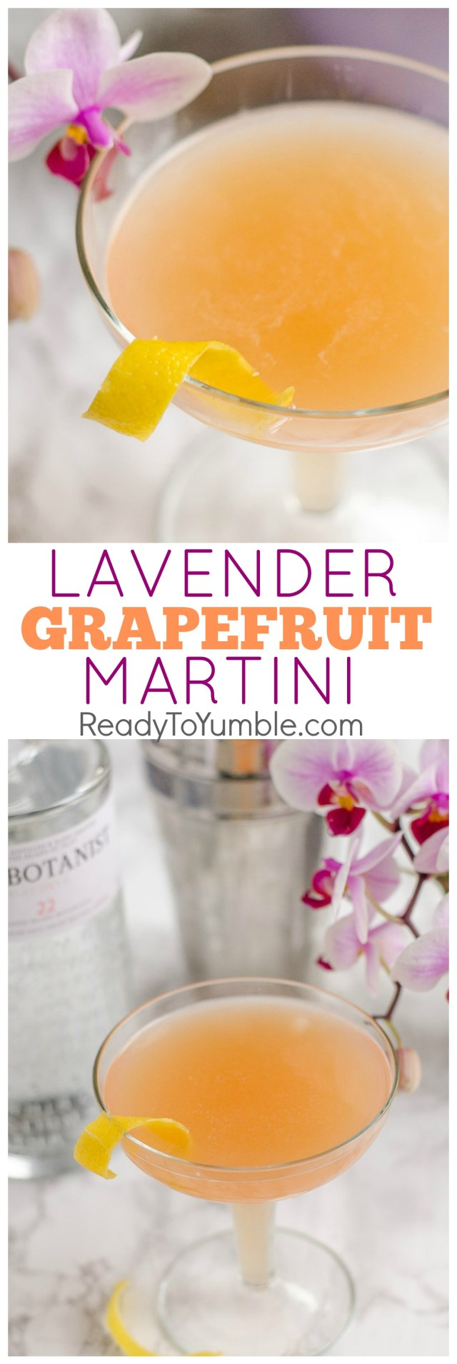 This Lavender Grapefruit Martini is a fresh and flavorful cocktail, just right for welcoming spring.