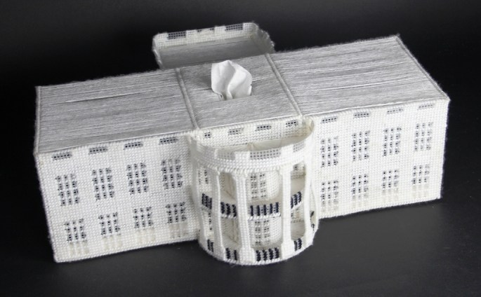 White House tissue dispenser