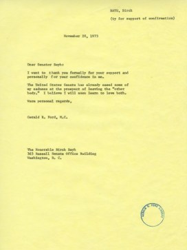 ford to bayh