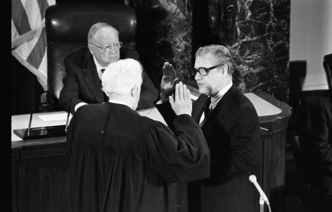 Nelson Rockefeller took the Oath of Office from Chief Justice Warren Burger on December 19, 1974.