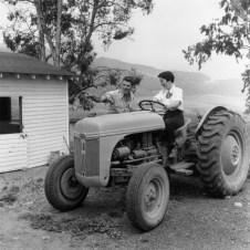 Nancy on Tractor