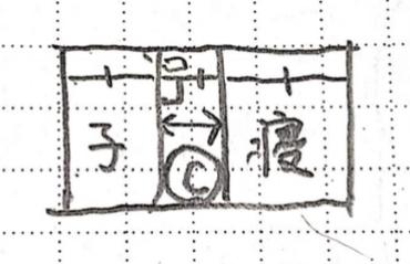 静波の22坪間取りAプラン2部屋の配置の画像