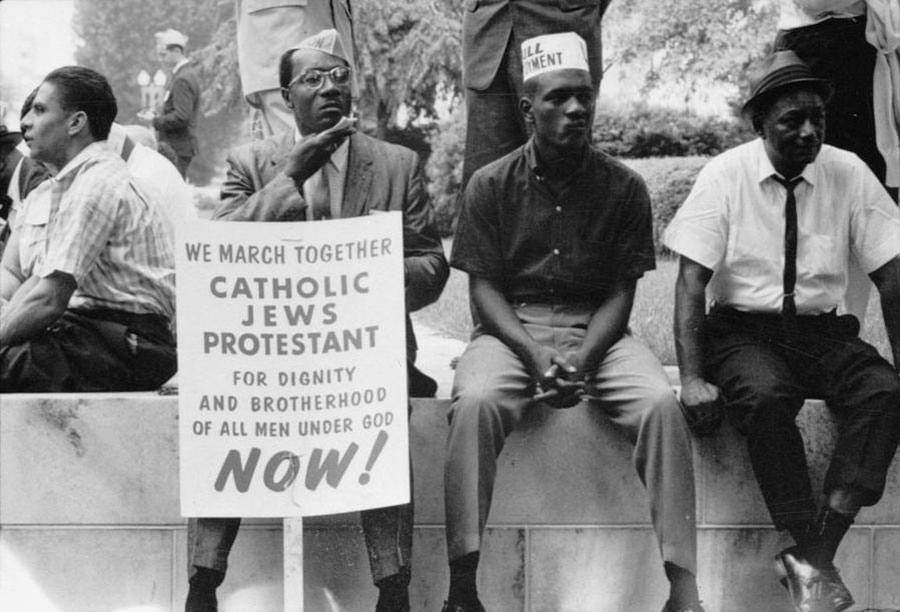 The civil rights march from Selma to Montgomery, Alabama in 1965.