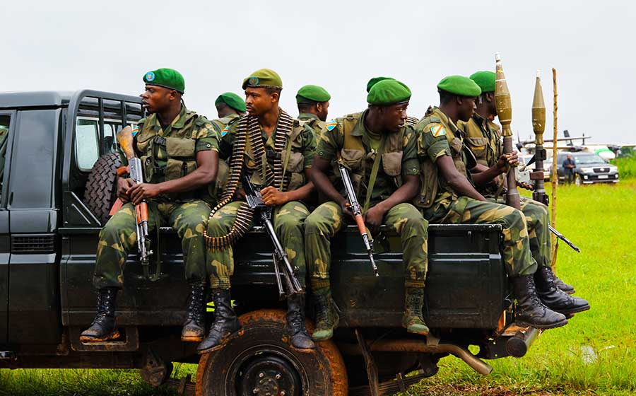 soldiers in the congo africa