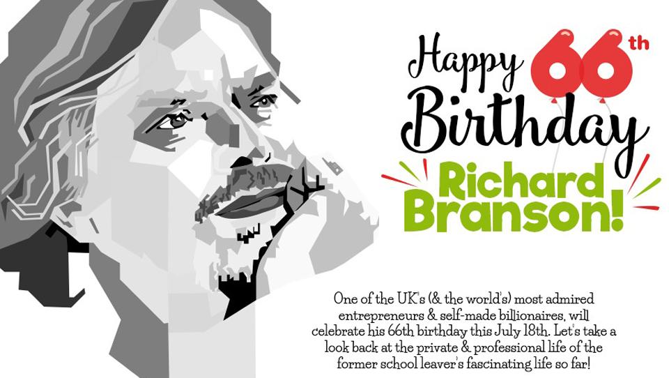 Richard Branson Celebrates 66 Years of Innovation