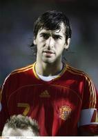 Рауль в своем последнем матче за сборную
