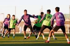 Серхио Рамос на тренировке