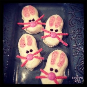 Easter Recipe Bunny Face Cookies