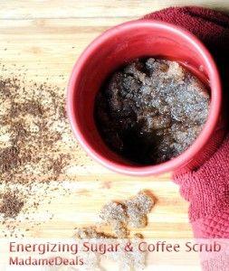 Energizing Sugar and Coffee Homemade Body Scrub