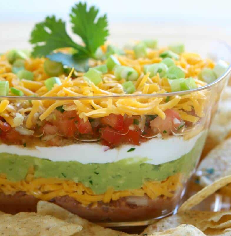 Low Calorie Taco Layer Dip