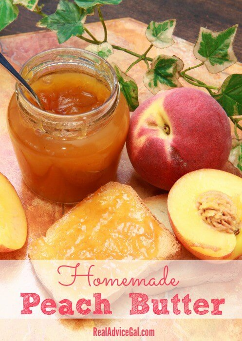 Homemade Canned Peach Butter