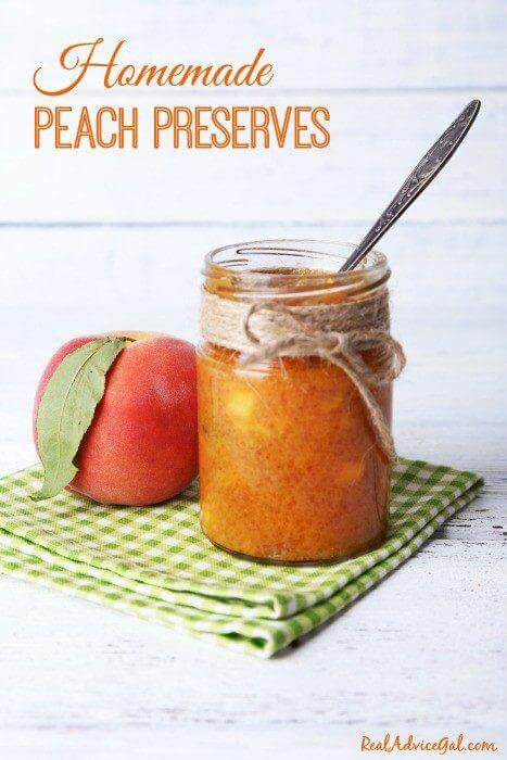 Homemade Peach Preserves