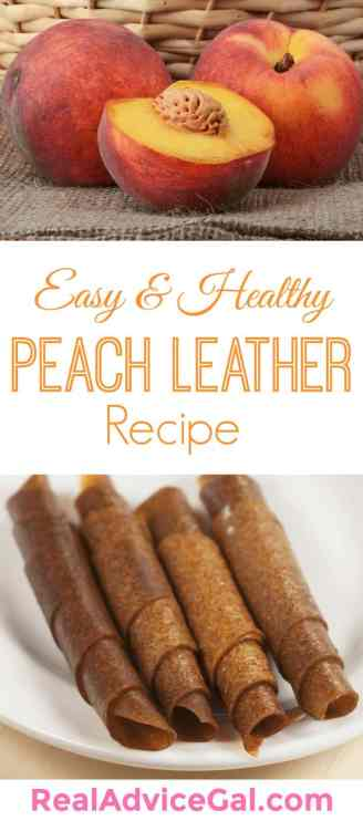 Easy peach leather recipe