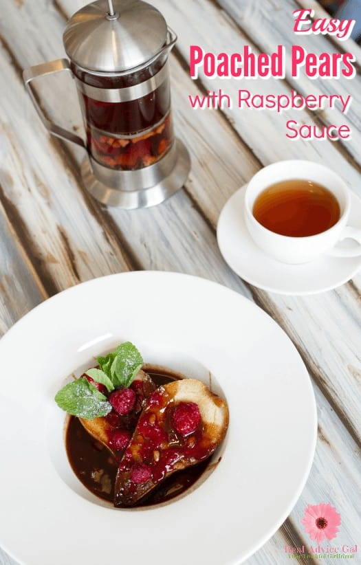 Serve a fancy dessert to surprise your guests or family. Try this easy Poached Pears with Raspberry Sauce Recipe