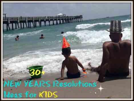 New years kids resolutions