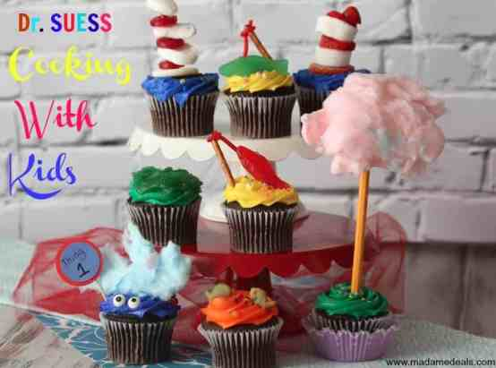 yummy and fun Dr Seuss Cupcakes
