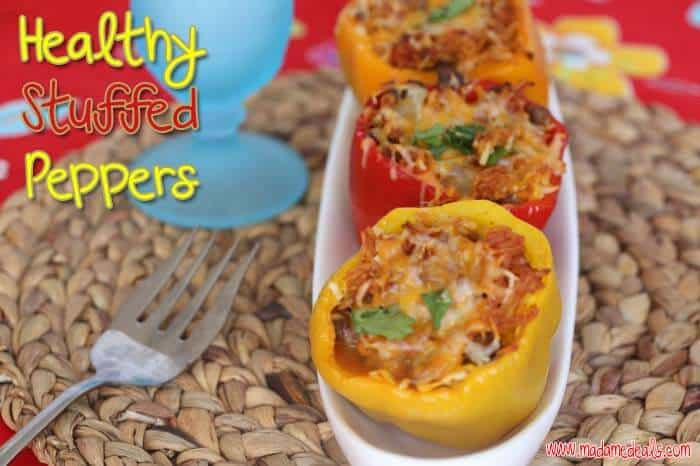 Healthy stuffed peppers that the whole family will love. Easy to make with Jimmy Dean fully cooked sausage.