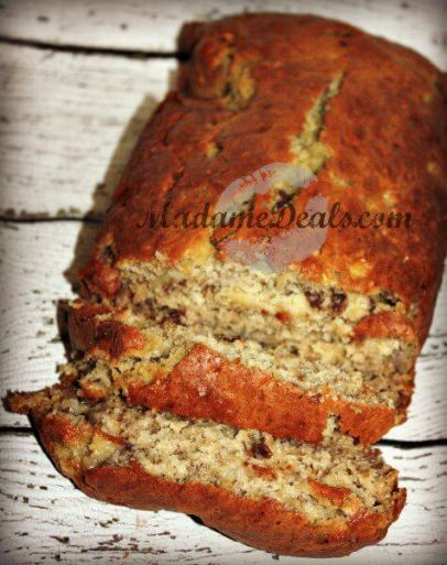 Here's a super easy instructions on how to make banana nut bread recipe