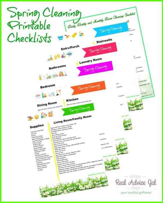 Free Printable Deep House Cleaning Checklist