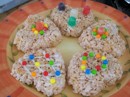 Rice Krispie Valentine treats